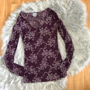 Free People Intimately Purple Shirt